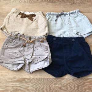 Zara toddler girls fall/winter short bundle, 2-3T